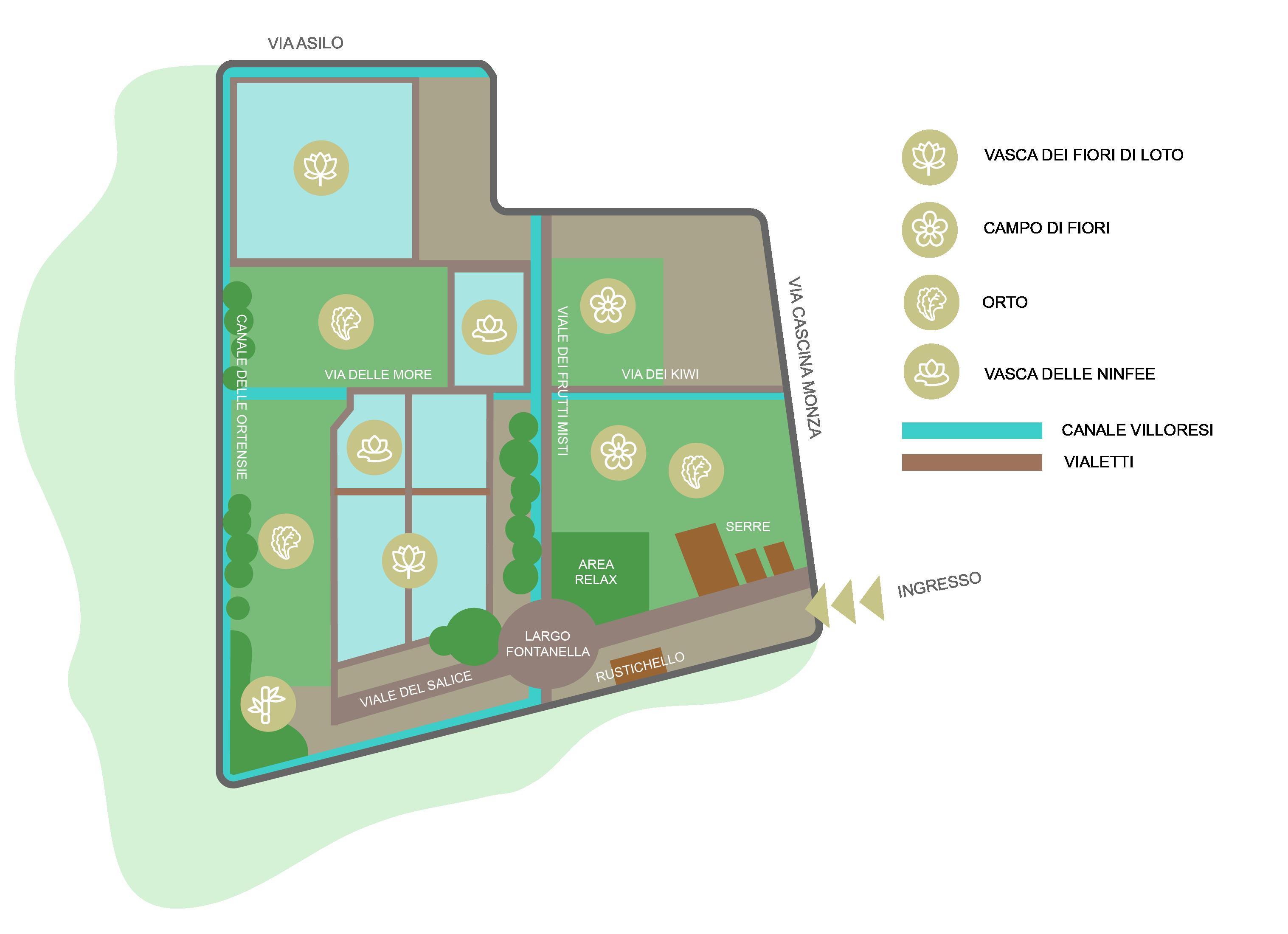 mappa Giardino del Loto